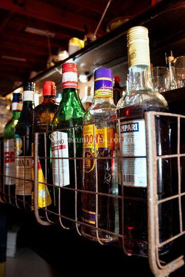 Barra vintage drinks