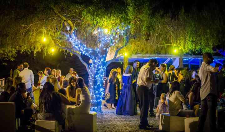 Casamiento en exterior patio