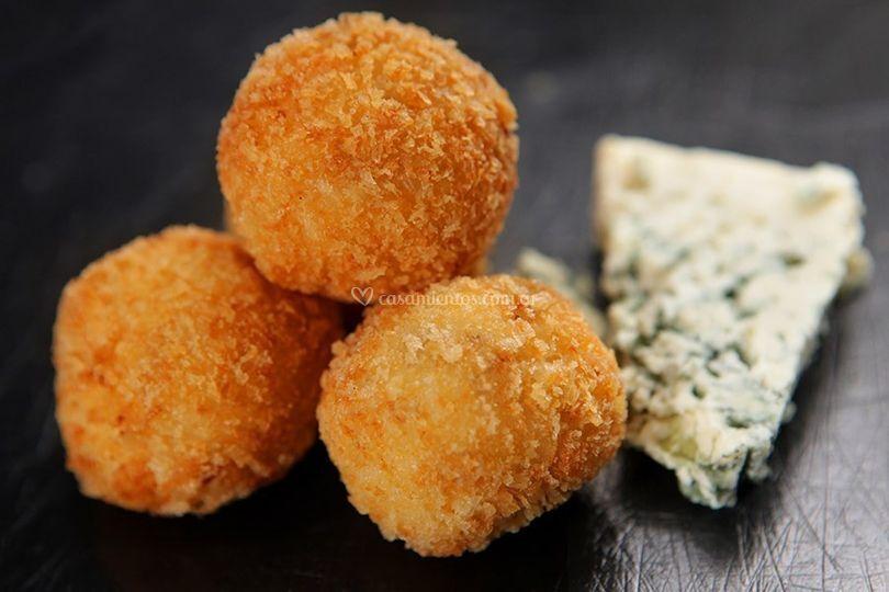 Croquetas queso azul