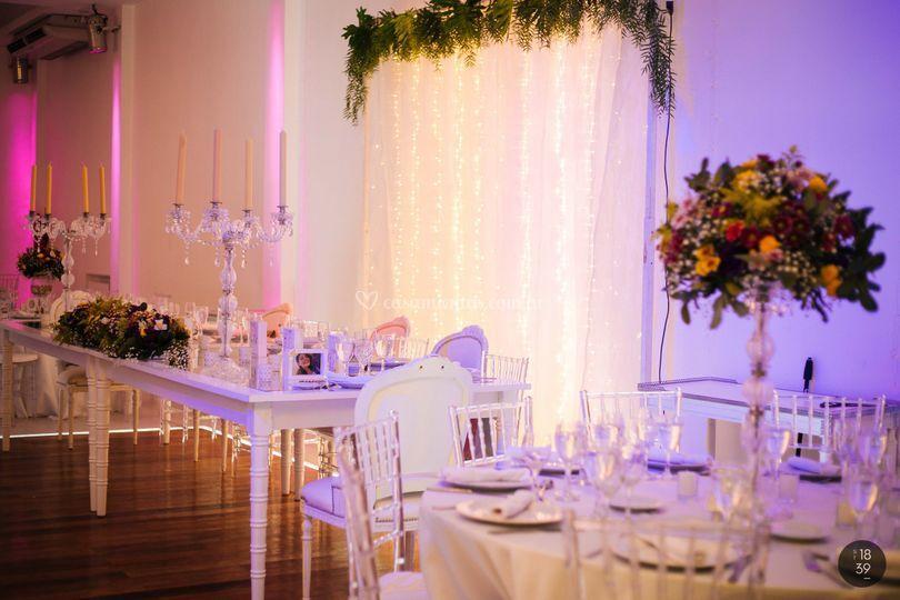 Mesas y Sillas Tiffany Cristal