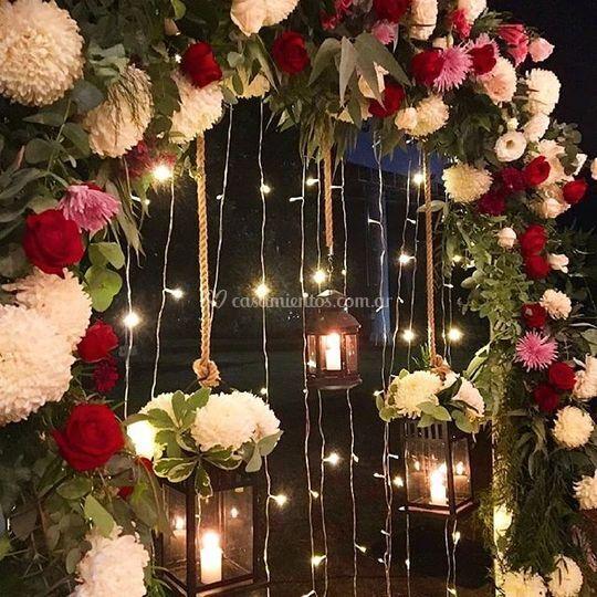 Arco de altar florido