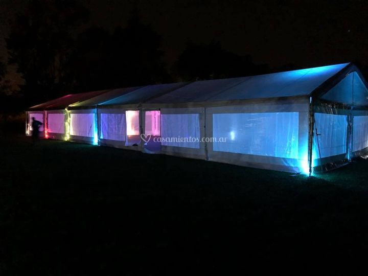 Carpa 8x24 + tachos led
