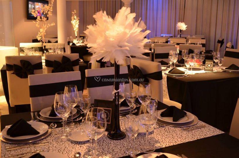 Mesas elegantes y centros