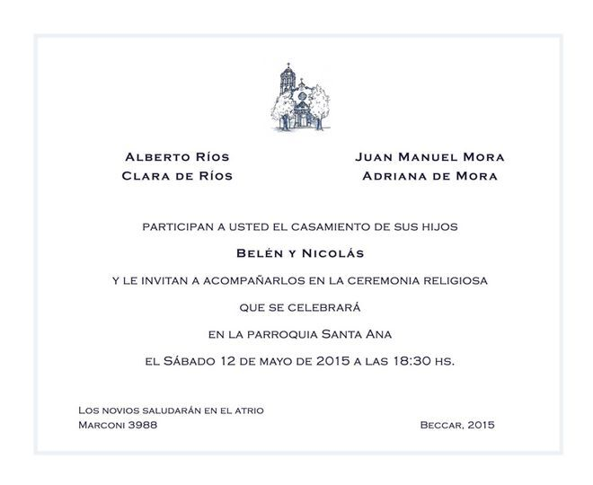 Invitación formal