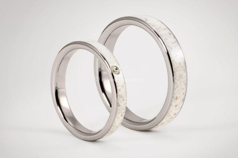 Carrara y titanio