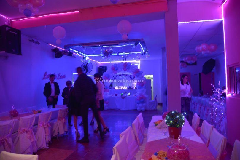 Salón de fiesta luz de luna
