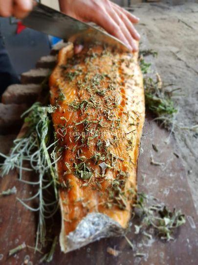 Salmon con hierbas