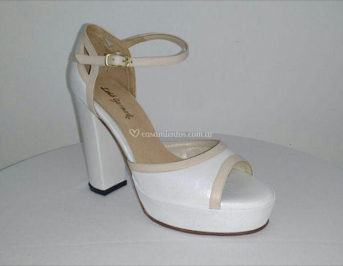 Zapato novia blanco