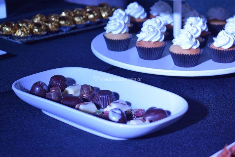 Cupcakes mas bombones