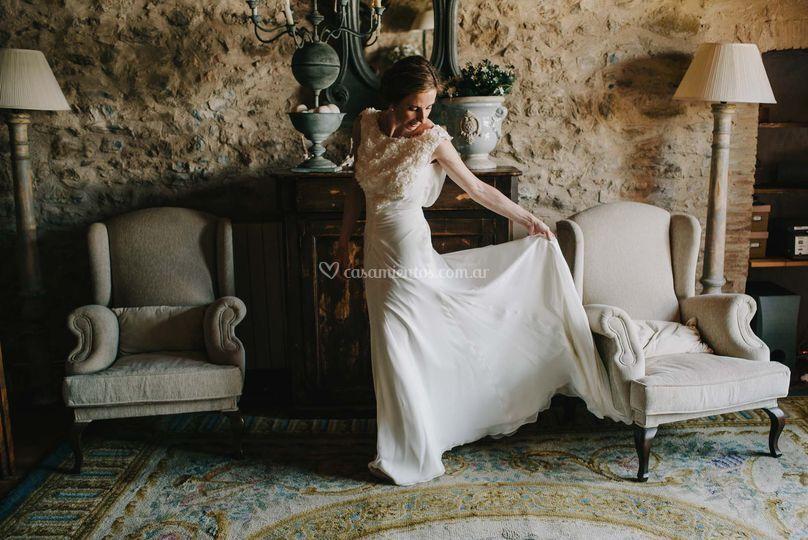 Novia y su vestido