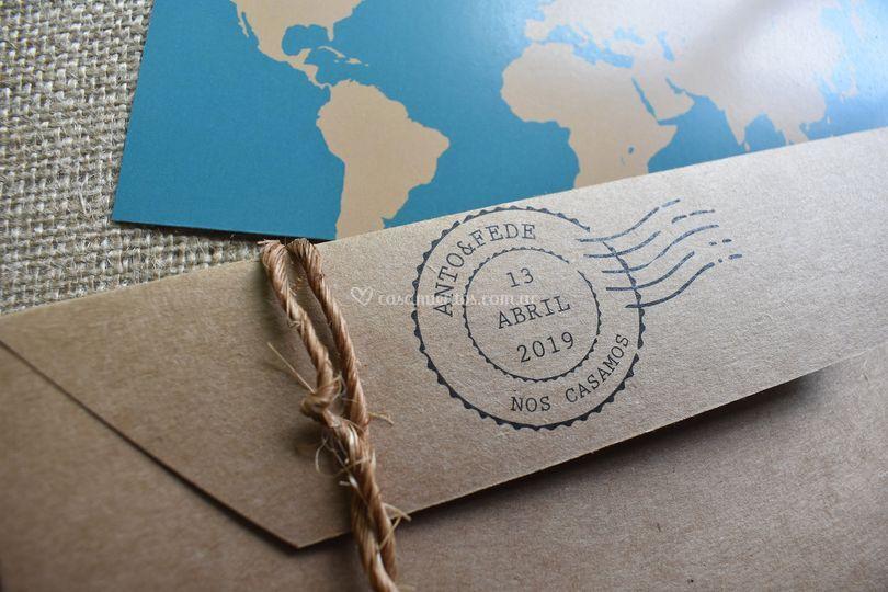 Invitación - temática viajera