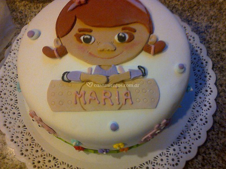 Torta María de dulce de leche