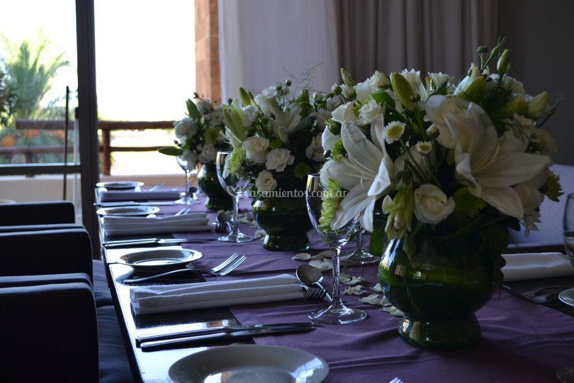 Arreglos para mesa invitados