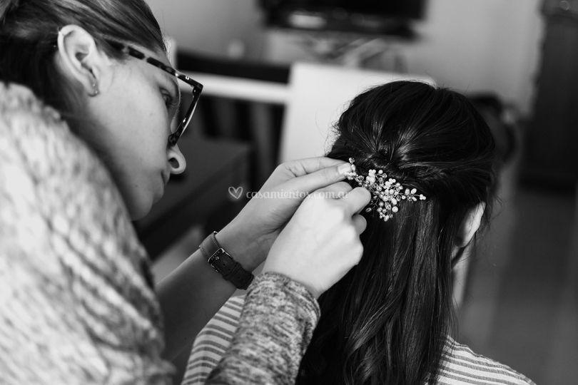 Armando el peinado de novia