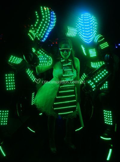 Robot led show jumper lights