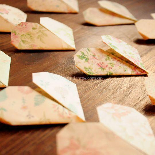 Origami corazones