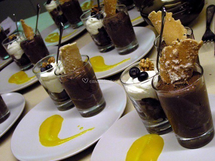 Shots mousse chocolate
