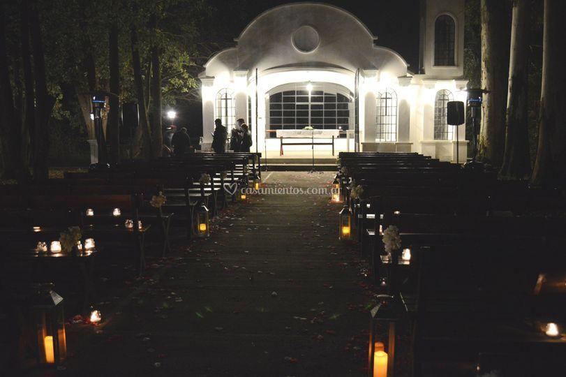 Capilla ambientación, wedding