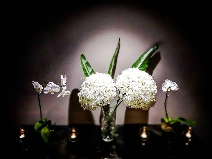 Hortensias y orquideas