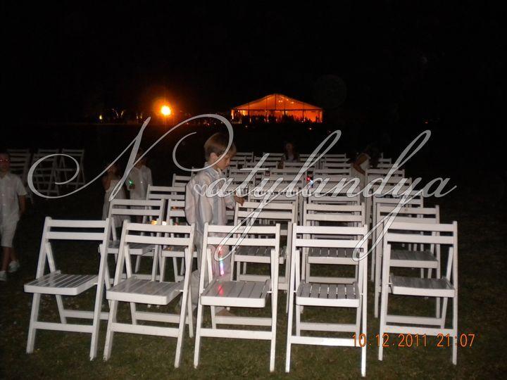 Armado de altar con sillas
