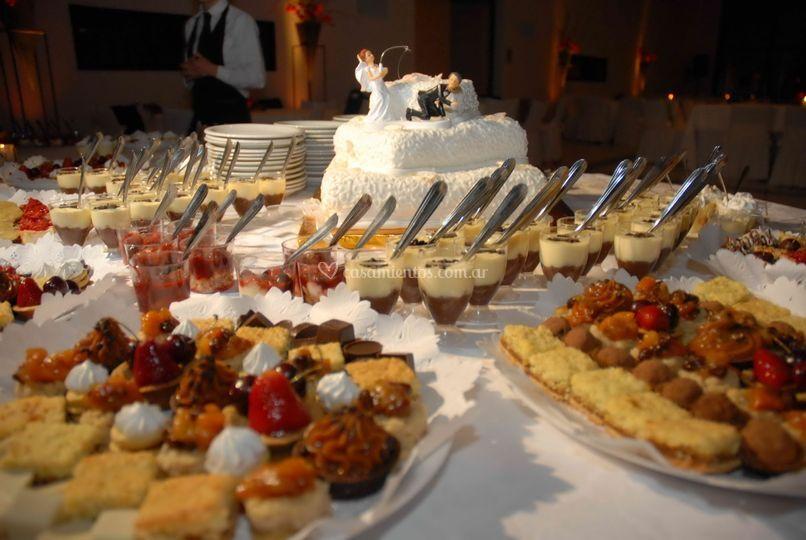 Mesa de dulces - petit fours