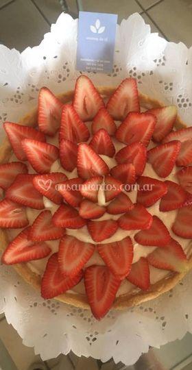 Tartín de frutillas