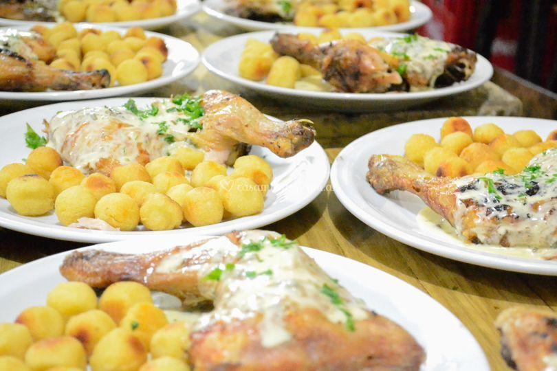 Muslo de pollo al verdeo