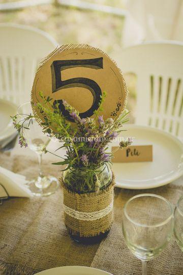 Floreros y centros de mesa