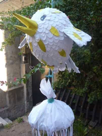 Piñata pájaro porta souvenirs