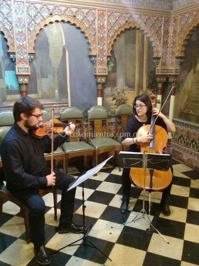 Dúo, violín y cello