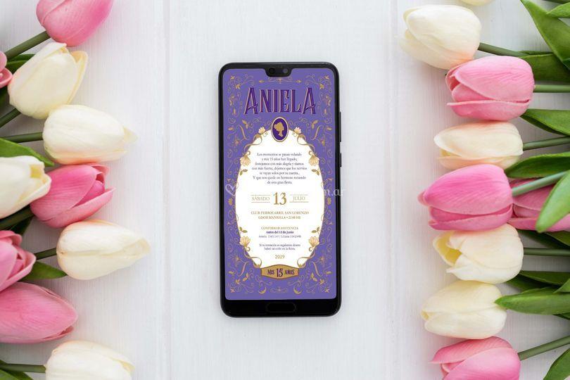 Invitación Aniela digital