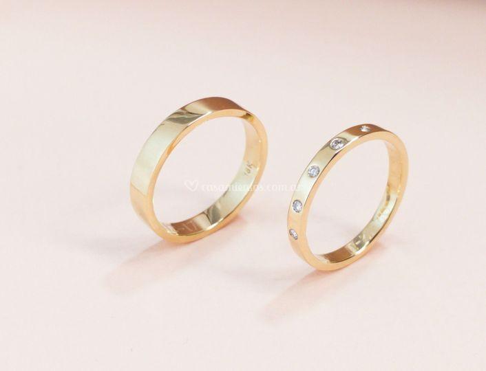 Oro rosa 18k y diamantes