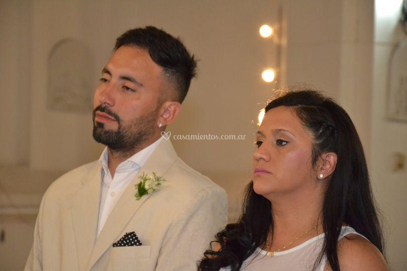 Casamiento en el altar