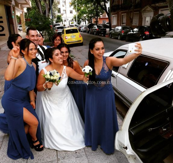 Boda y damas de honor