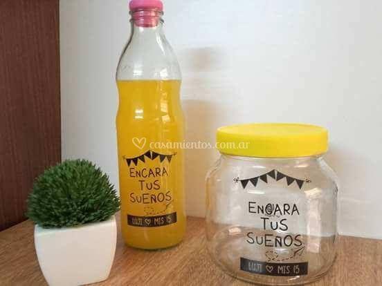 Botella de litro estamapada