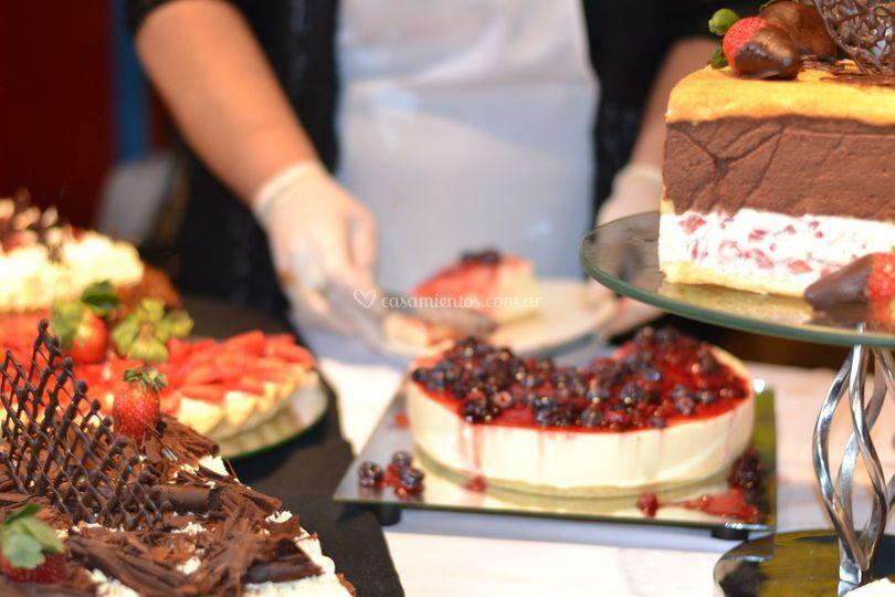 Tortas y mesas dulces
