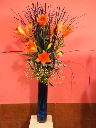 Arreglo floral para recepcion