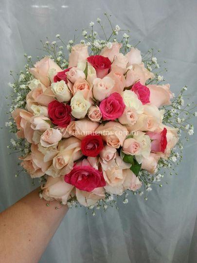 Ramo de novia rosas rosadas