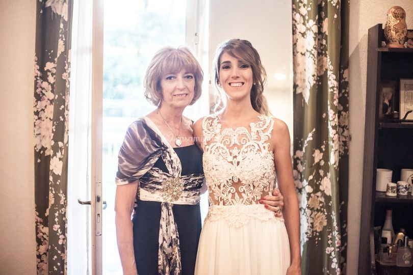 Maquillaje de novia y mamá