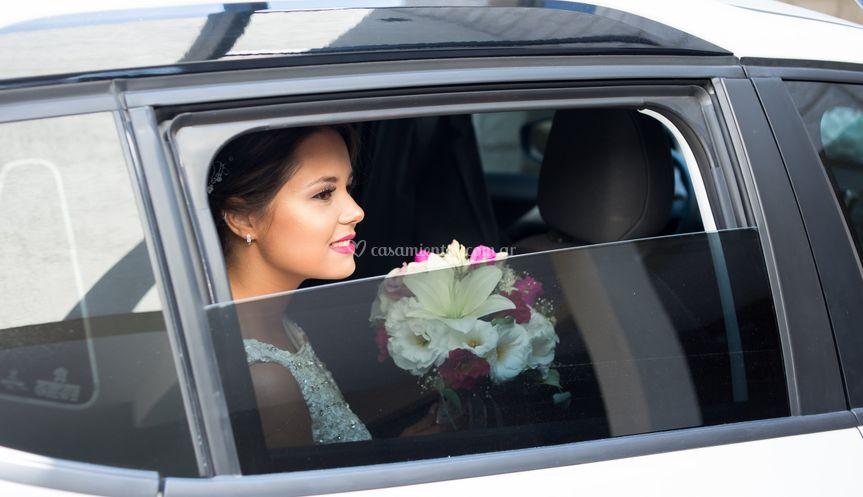 Novia llegando iglesia