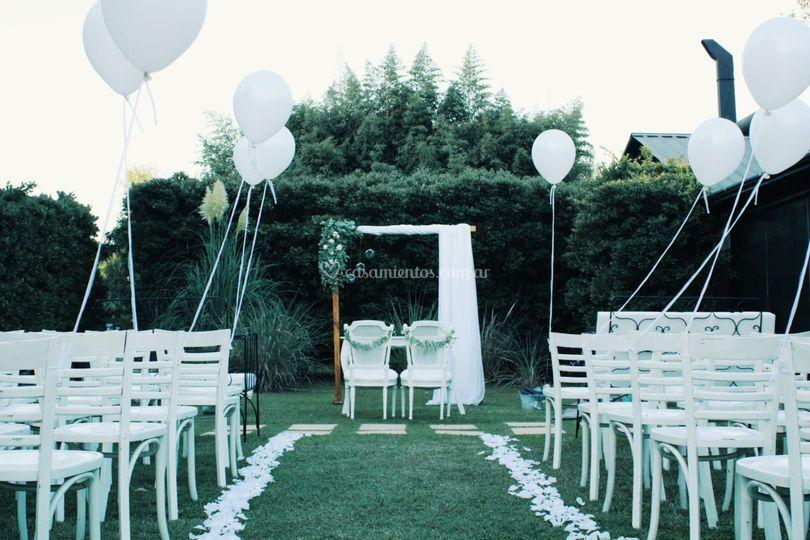 Ceremonia para Ari y Flor