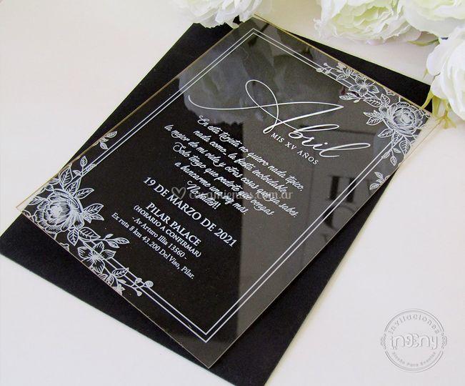 Invitación transparente 1mm