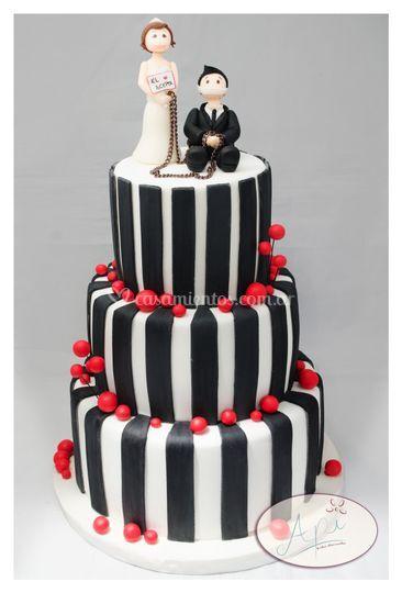 Torta de boda 3 pisos