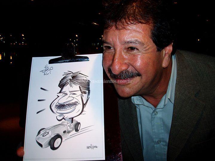 Caricaturas en fiestas
