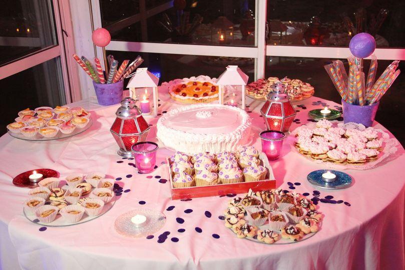 Comida y catering mesa dulce