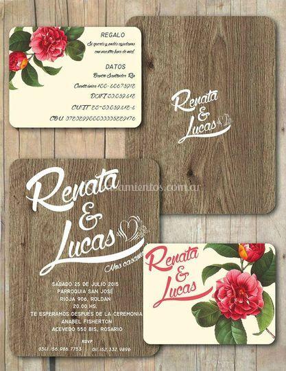 Invitaciones Renchu & Luca