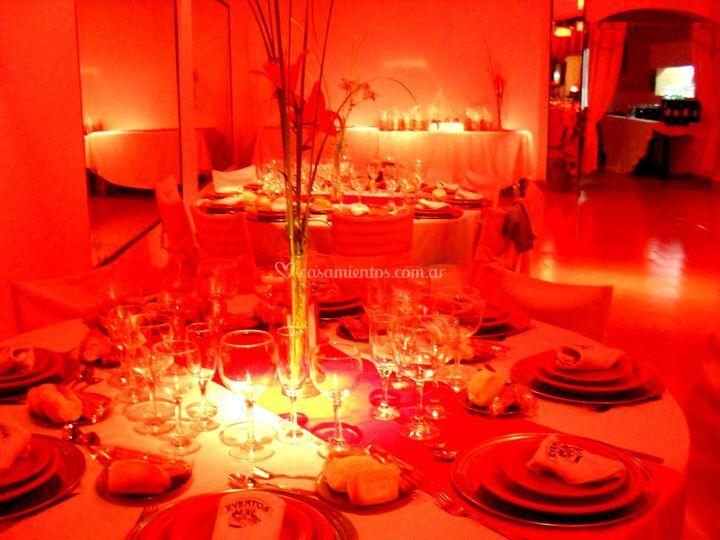 Iluminación a LED rojo