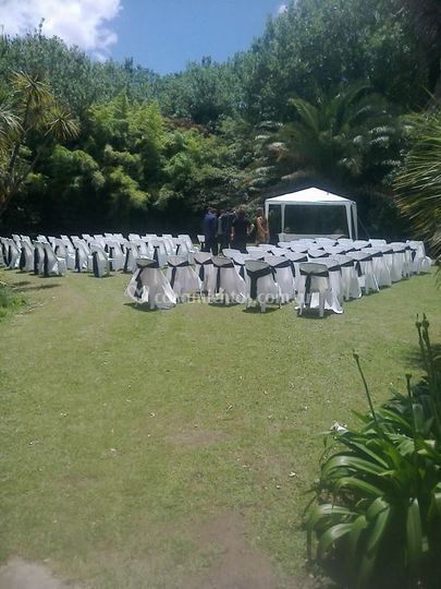 Ceremonia en jardín