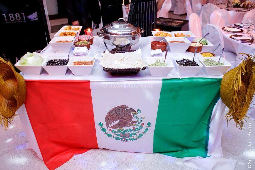 Recepción mesa mexicana