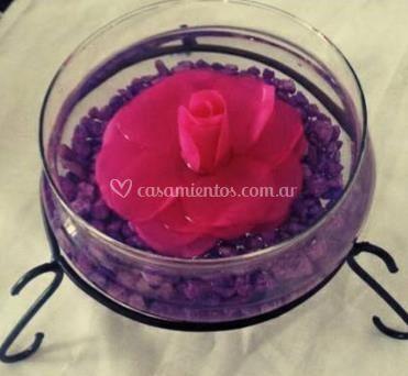 Velas en forma de rosa